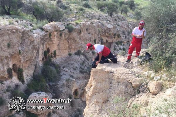 فرد گرفتار شده در کوه های صعب العبور هفت چاه نجات یافت + عکس