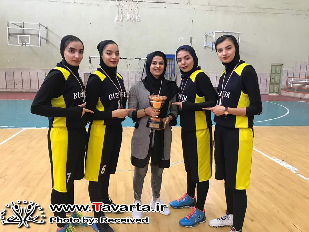 تيم منتخب امید بسکتبال دختران استان بوشهر مقام سومی کشور را کسب کرد